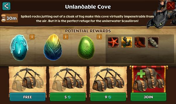 Unlandable Cove