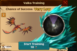 Exiled Monstrous Nightmare Valka First Chance