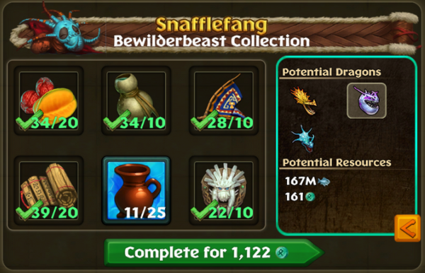 Bewilderbeast Potential Collections