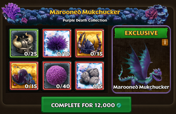 Sample of Purple Death Collections