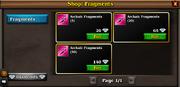 General shop fragments