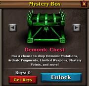 Demonic chest panel