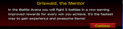 Arena message