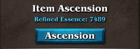 Item ascension tablet