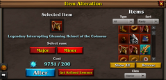 Alteration page minor