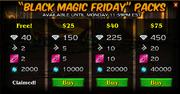 Black magic packs