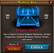 Cryptic chest panel