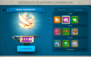 In-game Combining Materials Menu