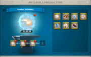 In-game blacksmith materials production