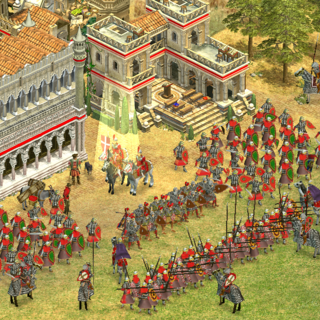 A Byzantine army in a city sporting the all-new Italo-Byzantine build style