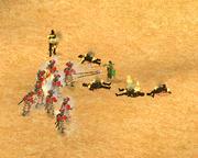 Fire Lances Burning Hoplites