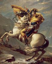 David - Napoleon crossing the Alps - Malmaison2