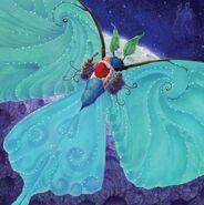 Lunar Moth with Baby Mim