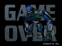 Rise of the Robots (arcade) game over