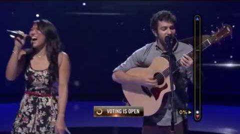 Rising Star - Daniel and Olivia Sing 'Counting Stars'