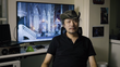 Koji igarashi during a development update