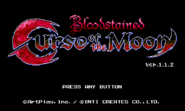 Curse of the moon title screen