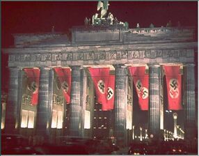 Brandenburg-gate-berlain-nazi-germany-hitler-birthday-rare-color-pics-pictures-images-pics-photos-second-world-war-ww2-two