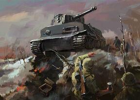 Tiger Tank Attack by LotharZhou