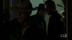 Season 1 Episode 11 To Riverdale and Back Again Sheriff Keller with a warrant