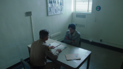 Season 1 Episode 7 In a Lonely Place Jughead Sheriff Keller at the station