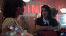 Season 1 Episode 2 A Touch Of Evil Veronica with Hermione at pop's shoppe