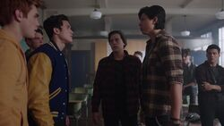 RD-Caps-2x20-Shadow-of-a-Doubt-24-Archie-Reggie-Kevin-Jughead-Sweet-Pea-Fangs-Fogarty