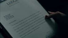 Season 1 Episode 10 The Lost Weekend Letter from Hiram