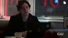 Season 1 Episode 1 The River's Edge Jughead writing