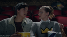 Season 1 Episode 10 The Lost Weekend Jughead and Betty at the movie