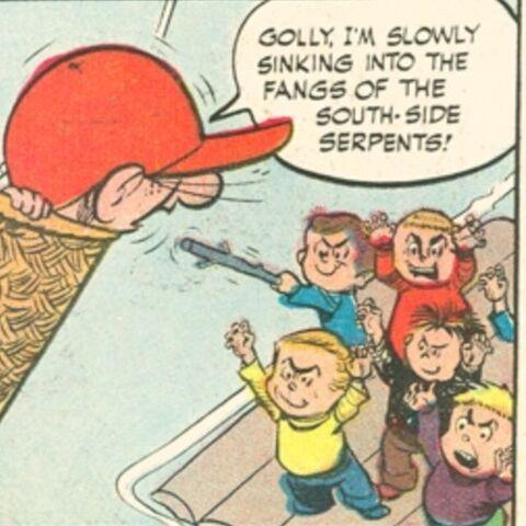 Mention des Southisde Serpents dans les comics.