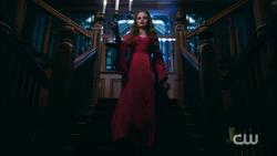 Season 1 Episode 5 Heart of Darkness Cheryl walking down the steps