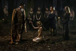 Chilling Adventures of Sabrina First Look - Father-Blackwood-Sabrina-Hilda-Zelda-Prudence-Agatha-Dorcas