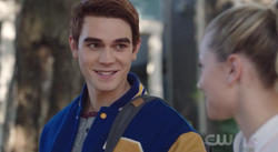 Season 1 Episode 2 A Touch of Evil Archie walking Betty to School