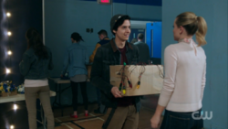 Season 1 Episode 11 To Riverdale and Back Again Betty and Jughead working on Homecoming