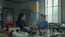 Season 1 Episode 10 The Lost Weekend Betty and Veronica at blue and gold