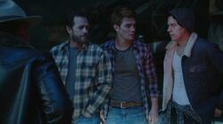 Season 1 Episode 8 Outsiders Sheriff Keller, Fred, Jughead, and Archie