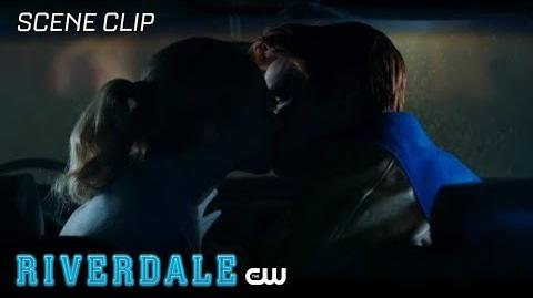 Riverdale Season 2 Ep 9 Archie and Betty Kiss in the Car The CW