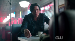 Season 1 Episode 3 Body Double Jughead interrogating scout