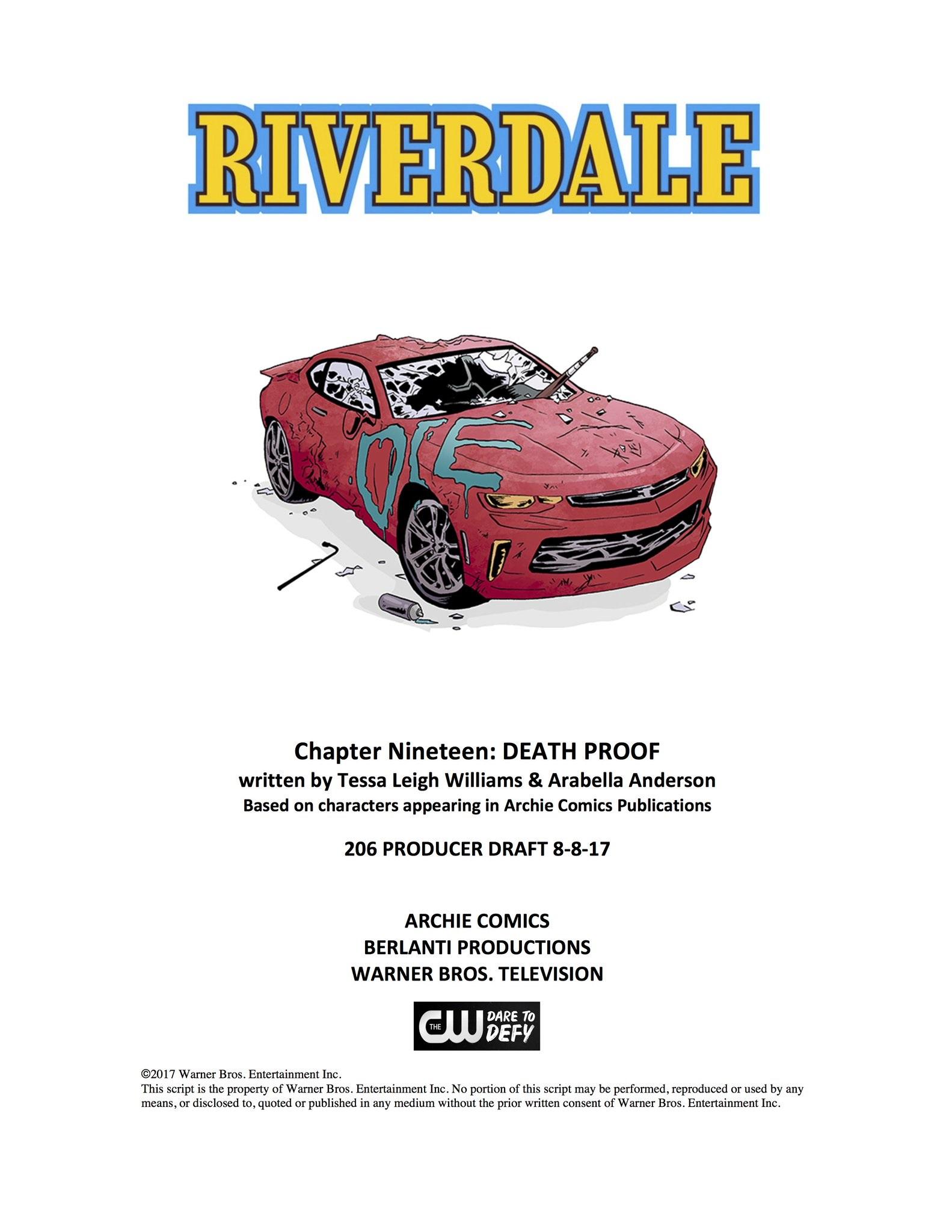 Image - Chapter Nineteen Death Proof Poster Draft.jpg | Riverdale ...