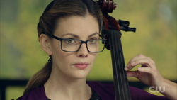 Season 1 Episode 4 The Last Picture Show Ms. Grundy playing cello