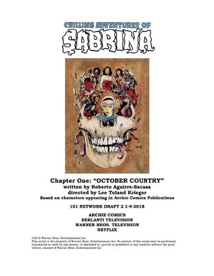 Sabrina Chapter One October Country Poster Draft