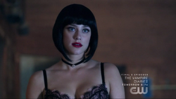 Season 1 Episode 3 Body Double Betty with black wig 2