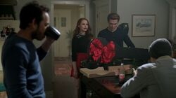 Season 1 Episode 9 La Grande Illusion Cheryl at Andrews house with Fred, Archie, and Jughead