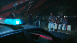 Season 1 Episode 8 The Outsiders Andrews Construction and SoDale site Sheriff-Keller-Kevin-Moose-Archie-Fred-Jughead