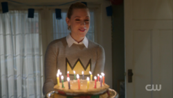Season 1 Episode 10 The Lost Weekend Betty with birthday cake