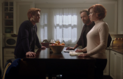 Season 1 Episode 11 To Riverdale And Back Again Archie, Mary and Fred in the kitchen