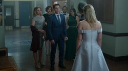 Season 1 Episode 11 To Riverdale And Back Again Homecoming - Betty, Jughead, Fred, Mary, Hermione, Alice, and Kevin