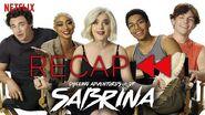 Official Cast Recap of Chilling Adventures of Sabrina Parts 1 & 2 Netflix