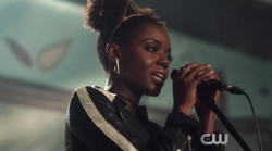 Season 1 Episode 3 Body Double Josie singing at taste of riverdale